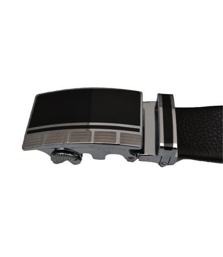 Squeeze Buckle Leather Belt